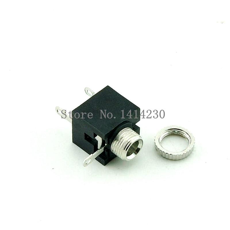 10Pcs Good Quality PJ201M 2.5mm Female Audio Connector 3 Pin DIP Headphone Jack Socket Mono Channel PJ-201M