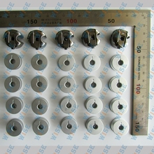 5 PCS. INDUSTRIAL SEWING MACHINE BOBBIN CASE AND 20 PCS BOBBINS FOR JUKI CONSEW SINGER BROTHER