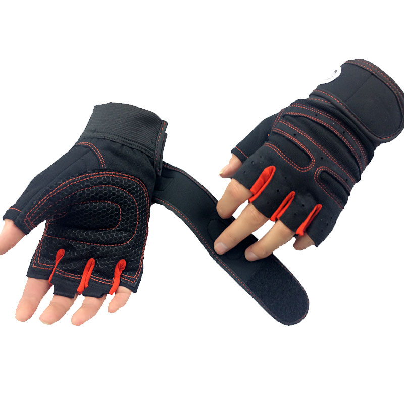 Gym Fitness Gloves Power Luvas Fitness Academia Anti skid Guantes Protective Crossfit Sports gloves font b