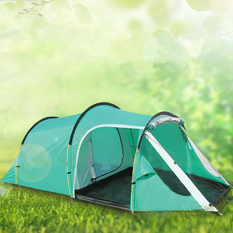 Image 2 - Camping hiking waterproof camping tent ,gazebo,awnings tent camping tourist tent sun shelter beach tent one hall and one room-in Tents from Sports & Entertainment