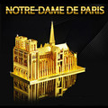 Notre Dame 3D Metal Puzzle DIY Assembly Building Educational Kids Toys Architecture Tangram Jigsaw Puzzle Children's Toys New Ye