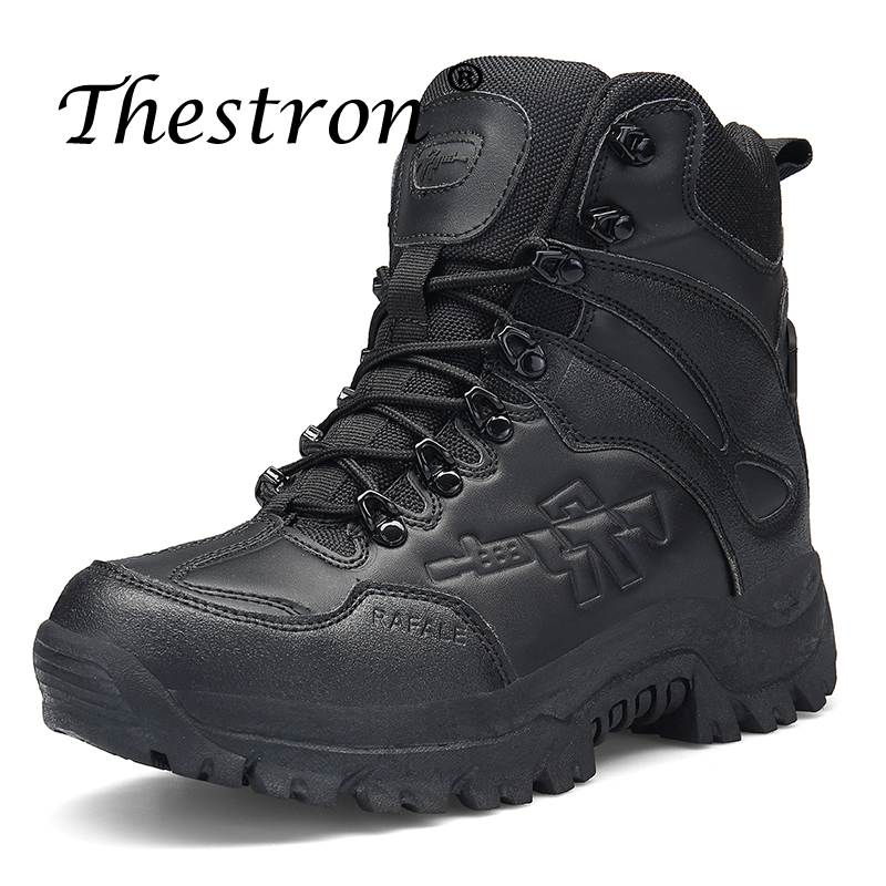 New Trend Tactical Men Boots Original Military Ankle Boots High Quality Men Big Size Winter Outdoor Footwear Work Security Boots in Work Safety Boots from Shoes