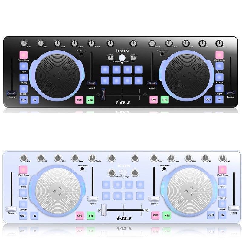Icône I DJ IDJ Mini contrôleur USB MIDI/DJ mélangeur Audio professionnel DJ avec roues à gratter sensibles au toucher-in Microphones from Electronique    1