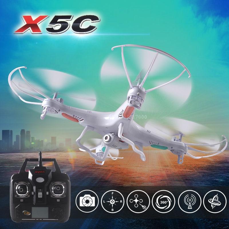 Free shipping 2.4G 4CH 6-Axis Original Syma X5C quadcopter RC helicopter drone with 2MP HD FPV camera RC toy VS x101 x5sw x5sc free shipping 2 4g 6 axis syma x9 quadcopter rc helicopter drone air ground amphibious remote control car vs smya x5c x5sw cx10w