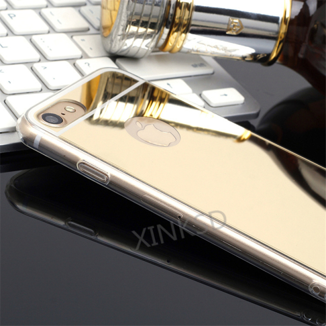 Luxury Acrylic Mirror Soft TPU Case for iPhone 7 Case 8 X 6s for iPhone 6 Case SE 5s 5 Case