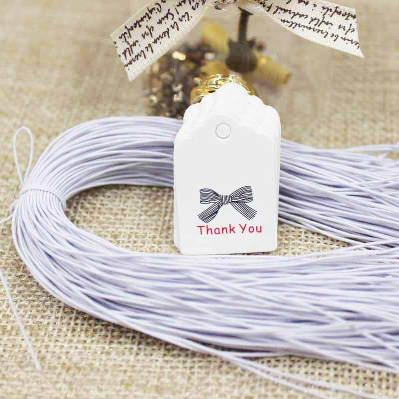 Scallop Brown/white Paper Thank You Candy Favors Tag Cute Wedding Favors Label Tag Price Tag 300pcs+300 Elastic String Per Tag