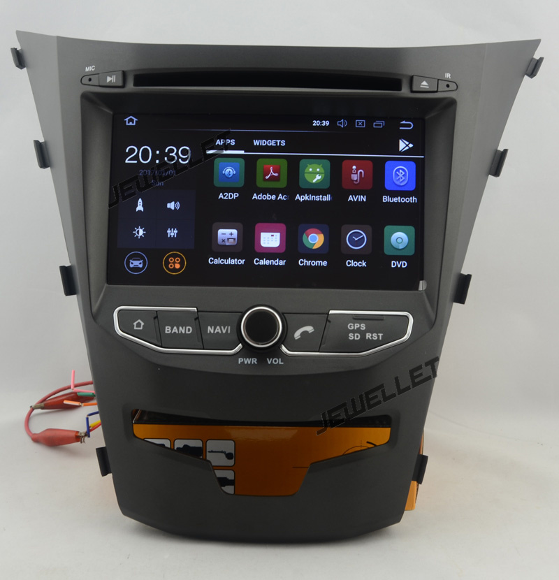 Quad Core 1024*600 HD Screen Android 9.0 Car DVD GPS Radio Navigation For Ssangyong Korando,New Actyon 2014-2016