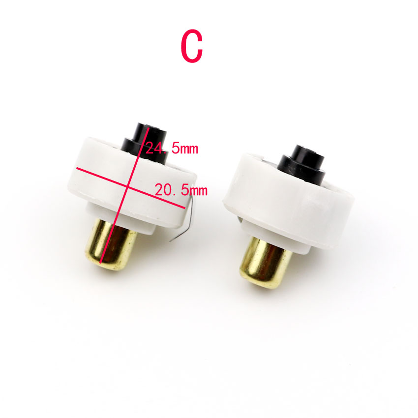 2Pcs LED Flashlight Push Button Switch ON// OFF Electric Torch Tail Switch  N RSU