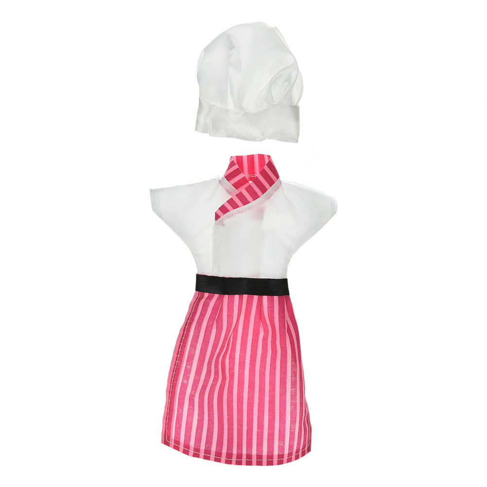 Модные куклы ручной работы Костюмы Cosply Костюм Одежда для шеф-поваров для шапка для кукол BJD 1/6 детские игрушки 1 компл. = 3 шт.