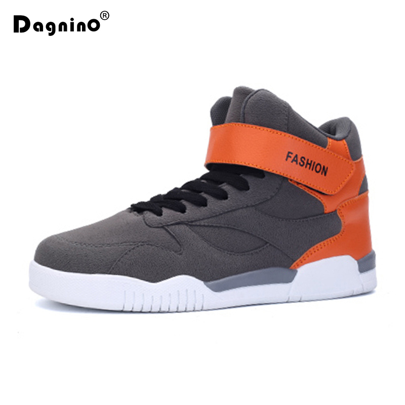 DAGNINO Spring Autumn Snow Boots Flat Casual Walking winter Shoes High Top Fashion Sneakers For Men Comfortable Zapatos Hombre