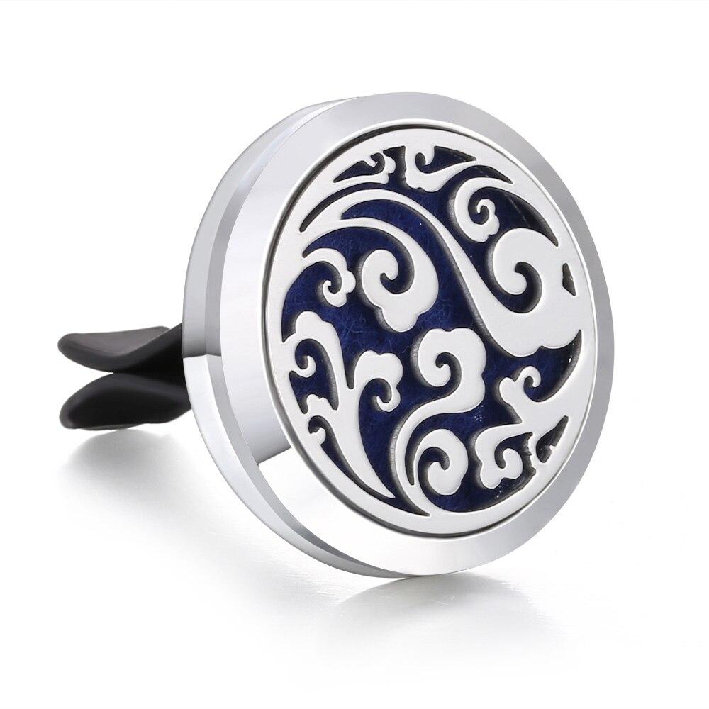 Ароматический диффузор ожерелье открытый медальон Подвеска для ароматерапии диффузор эфирного масла автомобильный освежитель воздуха автомобильный парфюмерный диффузор зажим - Окраска металла: 20