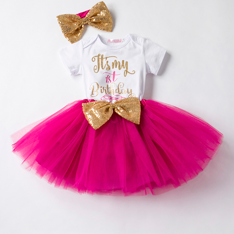 Newborn Baby First Birthday Outfit Dress Baby Girl Summer ...