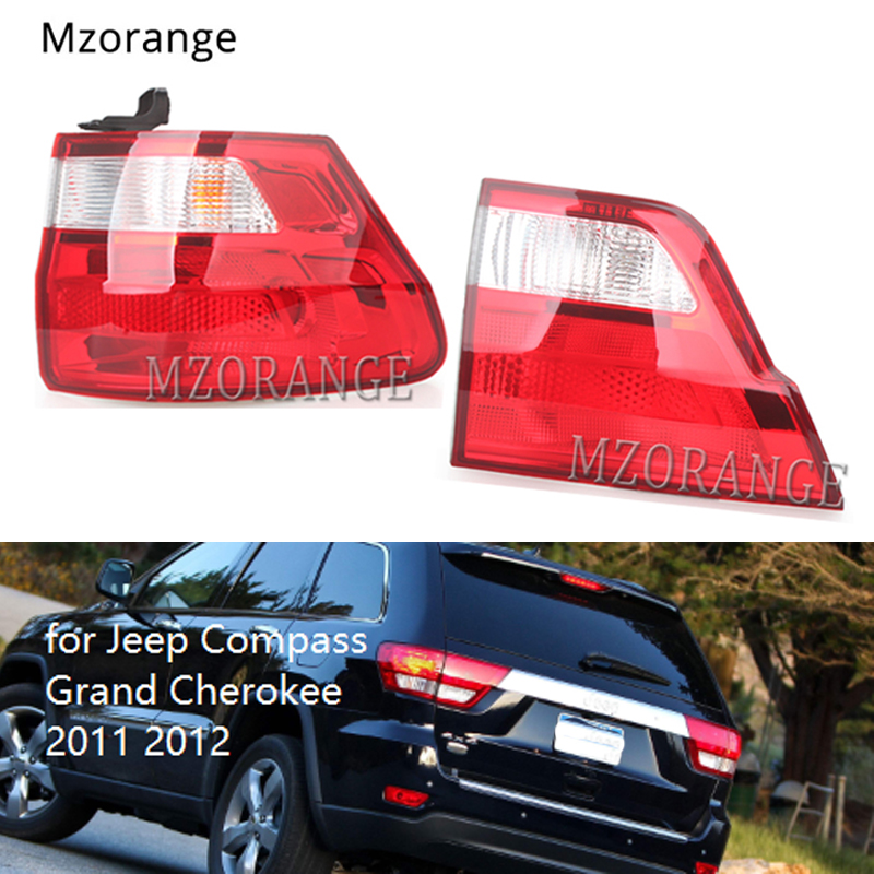 MZORANGE Inner Outer Tail Light for Jeep Compass Grand Cherokee 2011 2012 Tail Brake Lamp Tail