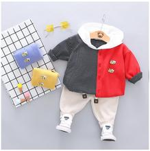 2019 Autumn Baby Boys Girls Clothing Sets Toddler Infant Clothes Suits Bee Coat Hooded T Shirt Pants Children Kids Costume Suit new 2016 autumn children wear suits baby girls boys clothes sets camouflage color cotton coat t shirt pants infant casual suits