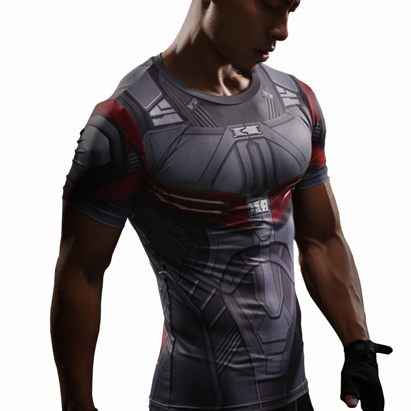 super popular e722a a0a35 US $5.62 50% OFF|Falcon T Shirt Captain America Civil War Tee 3D Printed T  shirts Men Compression Avengers 3 Short Sleeve Fitness Clothing Male-in ...