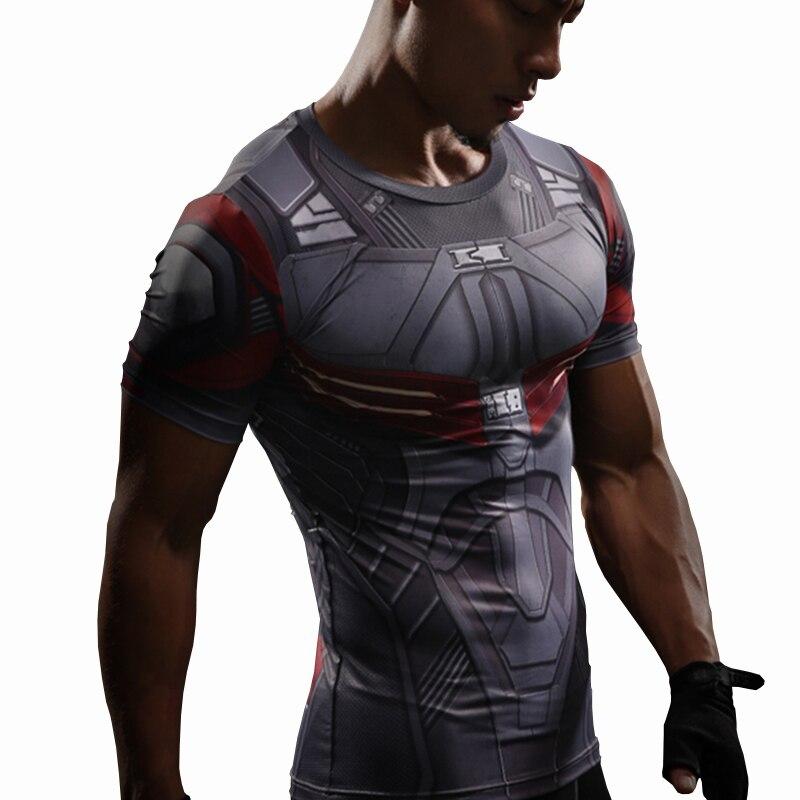 Falcon póló Amerika polgárháború kapitány 3D nyomtatott pólók férfiak Marvel Avengers 3 tömörítés testépítés Crossfit póló