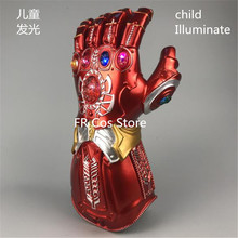 лучшая цена Iron Man Cosplay Child Emulsion Infinity Gauntlet Iron Man Armor Illuminate Avengers: Endgame Adult LED Infinity Gauntlet Prop