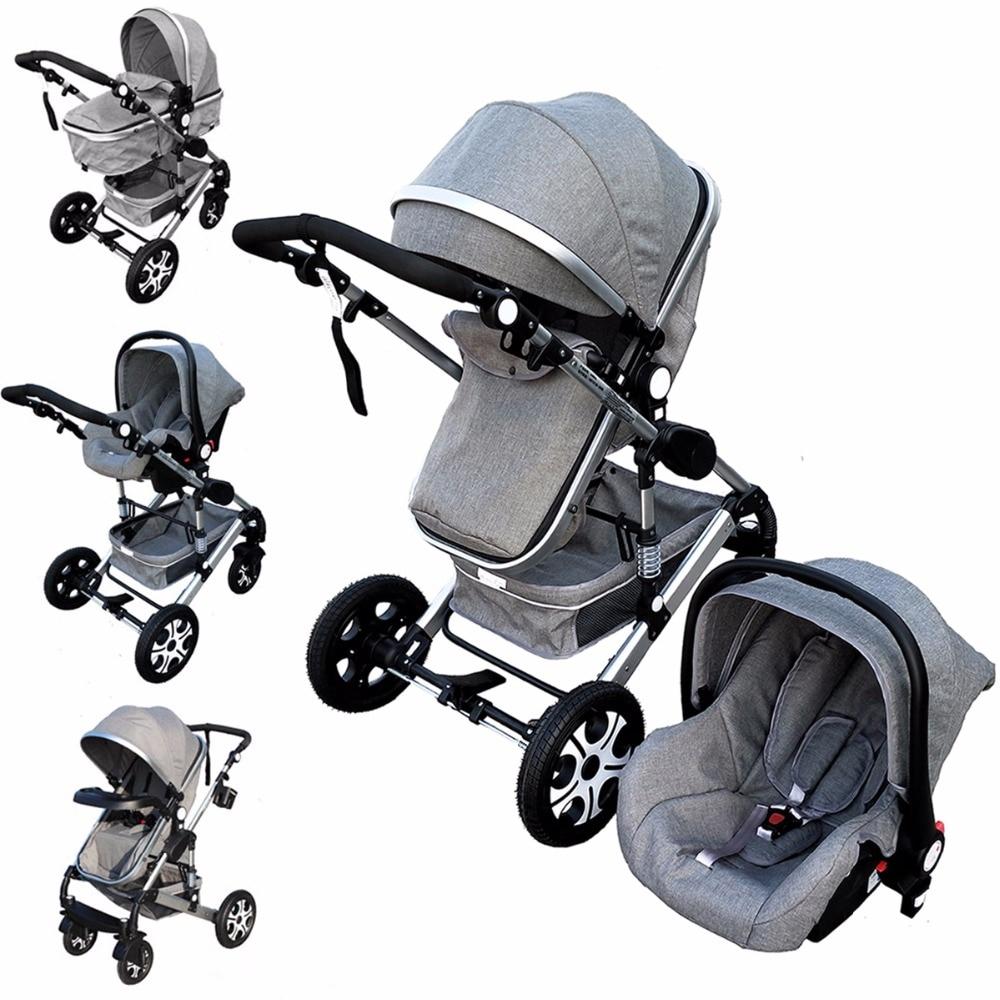 Baby Stroller 3 In 1 Kids Pram Car Seat Stroller For New ...