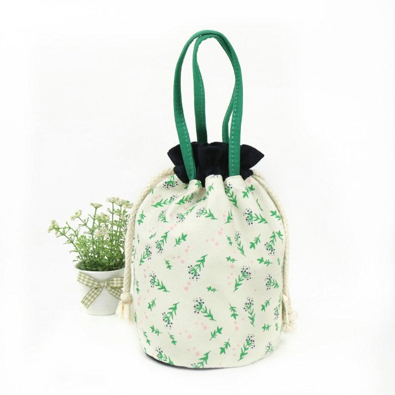 Small Bouquets Of Fresh Chopped Pocket Ms Bucket Shape Draw String Bag Joker Interlayer Small Cloth