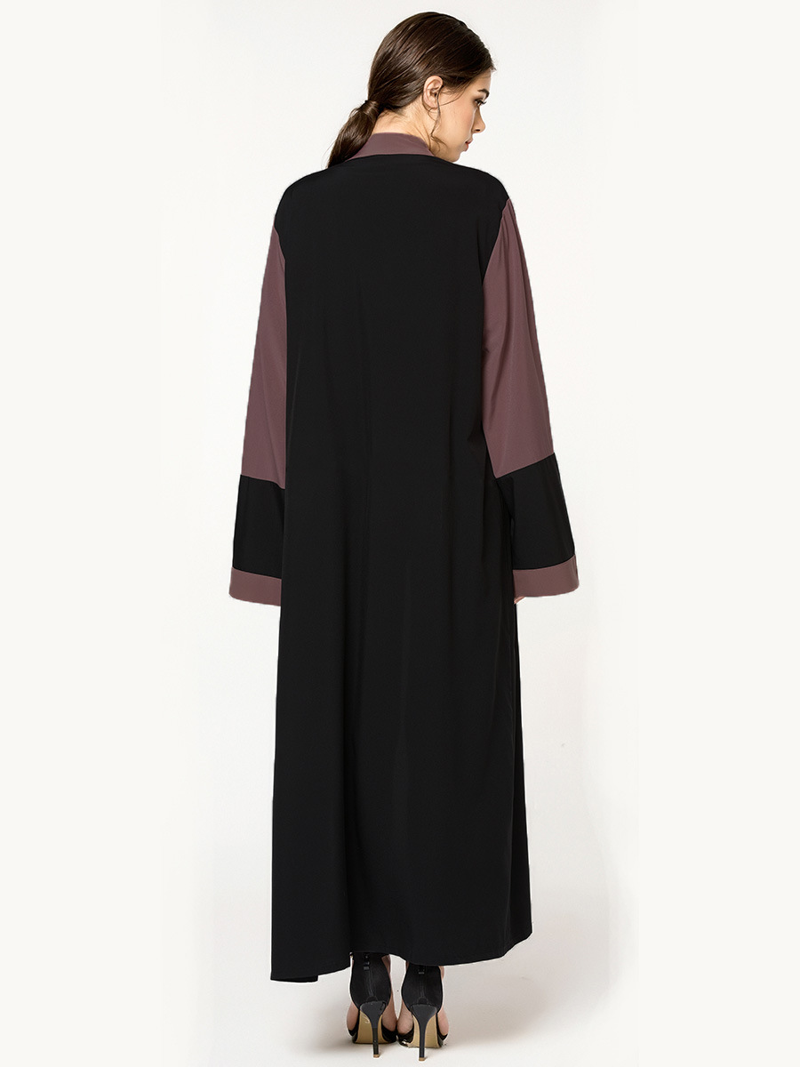 Large size group fashion splicing Islamic Muslim female robe Middle East New Dubai specifically for cardigans 1572