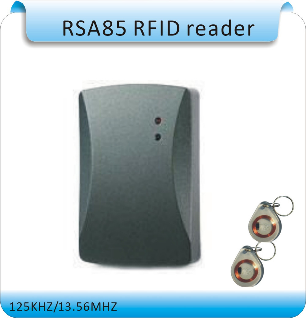 Free shipping Waterproof EM-ID 125KHz RFID Access Control Card Reader with RS232 / RS485 Interface