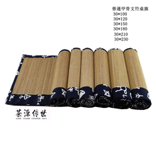 Chayuanchuanshi Азиатский Хлопок Белье Обертывание ЧАЙНЫЙ Стол, бамбуковый Столик Бегун Чай в Цветок Оракул Китайский Настольный Флаг, шесть Размеры