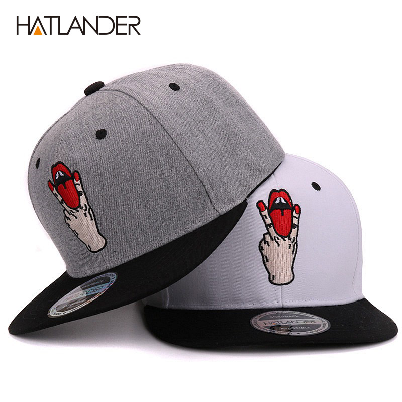 Hatlander Girls letter baseball caps bboy gorras planas outdoor sports hats women bone snapbacks men casual fitted hip hop cap