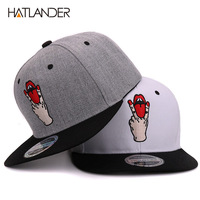Hatlander Fashion Snapback Baseball Caps Bboy Gorras Planas Bone Snapback Hat Cool Women Men Snapbacks Casual