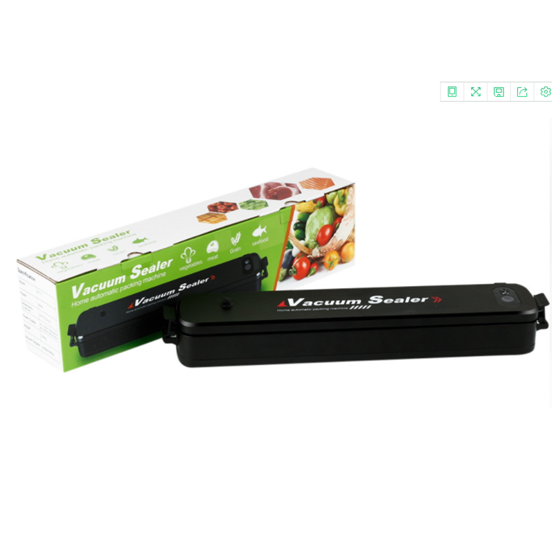 Electric 110V/220V Household Food Vacuum Sealer Packaging Machine Film Sealer Vacuum Packer with 15pcs Bags