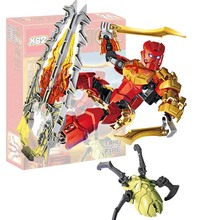 Bionicle 708-3 Tahu Master Of Fire Action Figure Building Block Brick Toys Compatible With Legoings 70787 70788 70789 70790 deblasio 70790