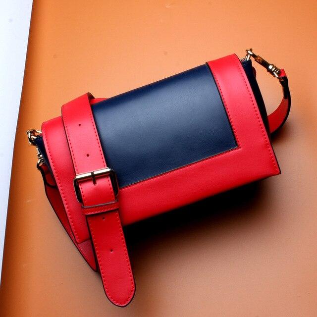 Moda de couro genuíno bolsa feminina bolsas luxo vl rosa e cinza pequeno mensageiro bolsa ombro panelled sacos crossbody 4