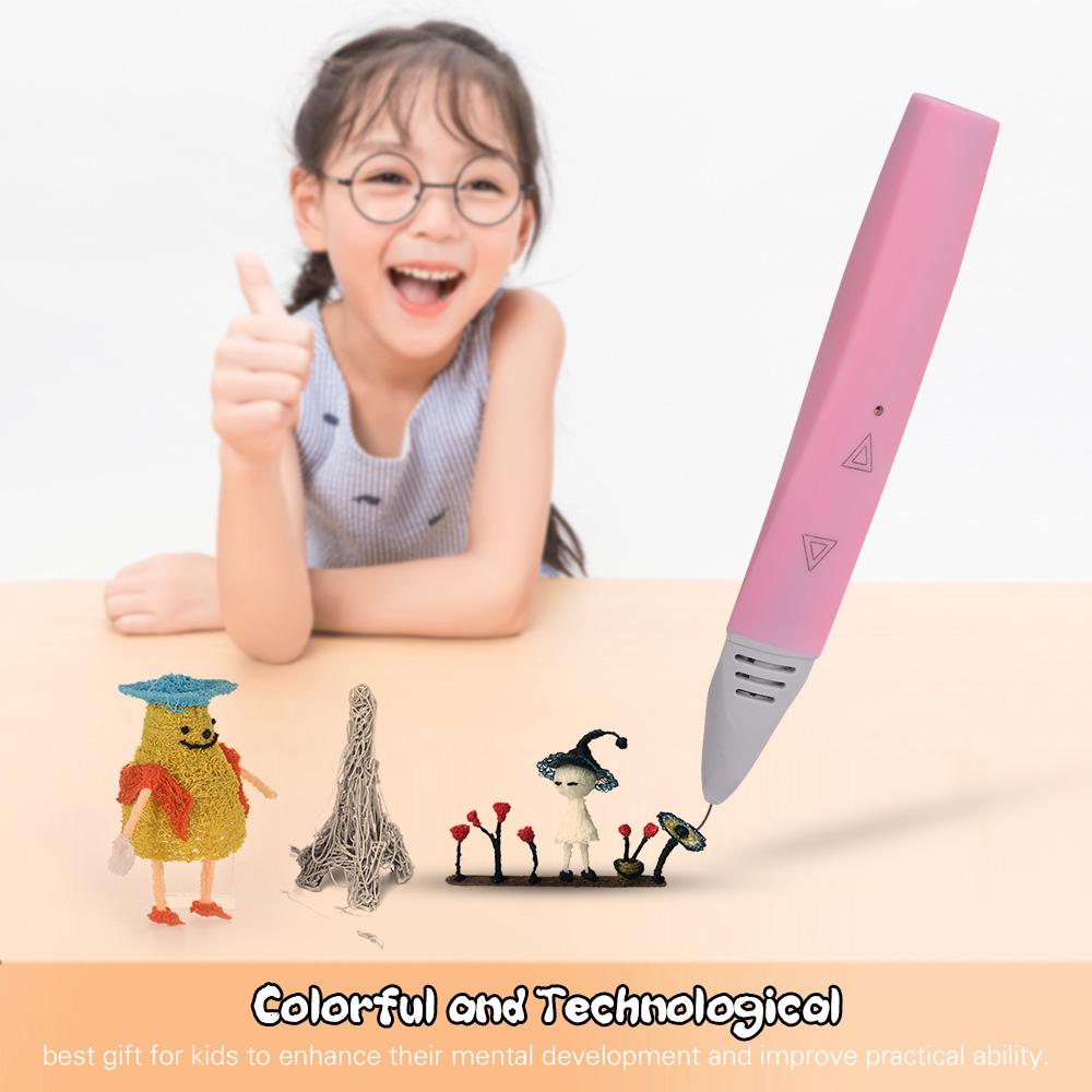 3D Printing Pen with Touchkey Operature Low Temperature 3D Pen PCL 3D Printing Filaments Auto Speed Adjust Intelligent 3D Pens(China)