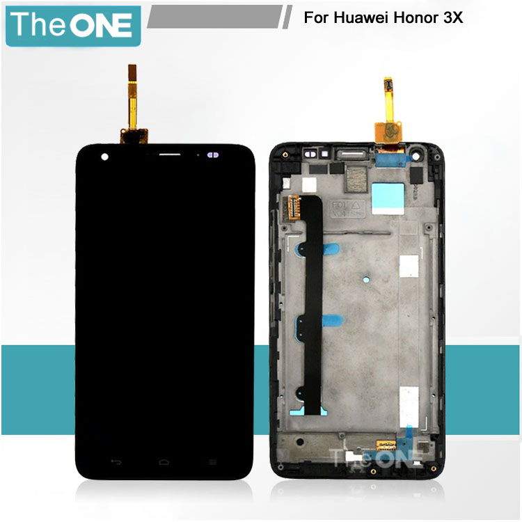 Free DHL for Huawei G750 honor 3x LCD Display with Touch screen glass panel +black/white frame Smartphone digitizer assembly teabreeze вокруг света чай ароматизированный в подарочной шкатулке 200 г