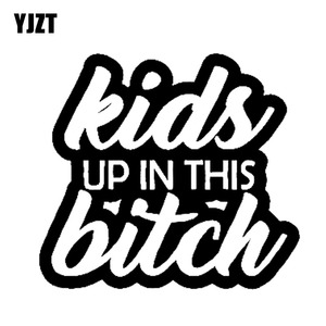 YJZT 15.2cm*13.7cm Baby on Board Kids Up In This Bitch Mom Life Minivan Vinyl Decal Sticker Car Black/Silver C10-00107(China)