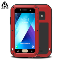 For Samsung Galaxy A5 2017 Case Waterproof Shockproof Gorilla Glass Luxury Aluminum Metal Frame Armor Cover