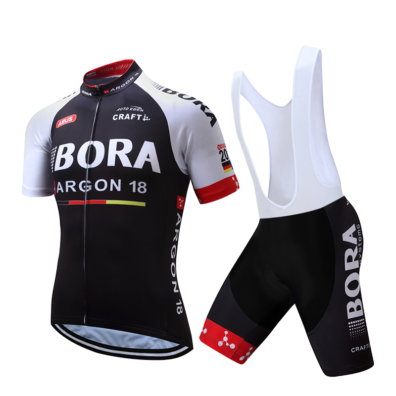 2017 BORA Cycling team jersey bike shorts set Ropa Ciclismo mens summer pro cycling wear ride maillot Culotte