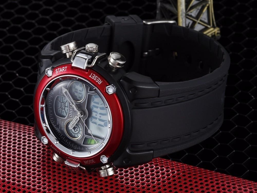 OHSEN lcd Цифровые кварцевые мужские модные часы наручные часы relogio masculino красный Будильник Спорт Плавание Силиконовые часы Секундомер подарки