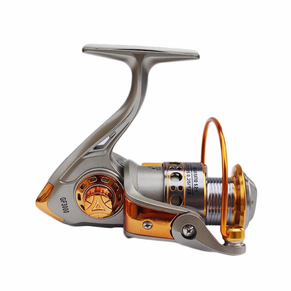 Никогда не ломаются GF 12BB 5.2: 1 полный Алюминий давильные лодка Рыбалка катушка Одежда высшего качества