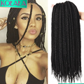 "18"" Havana Box Braid Crotchet Braids Micro 3s Braid Extension Crochet Braiding Small Crochets Mambo Twist for Black Women Men"