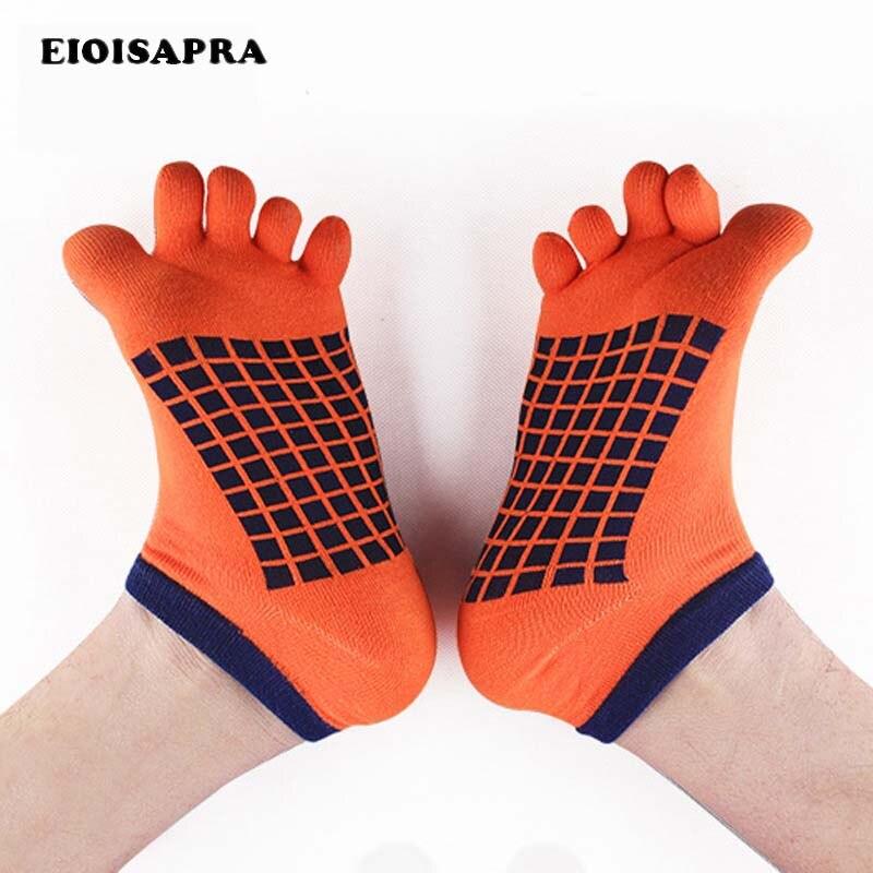 [EIOISAPRA]Summer New Product Five Fingers Grid   Socks   Casual   Socks   Toes Ankle   Socks   5 Colors Comfort Anti-Static Men Meias