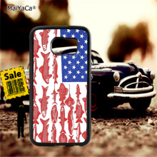 American flag fishing soft TPU edge phone cases for samsung s6 edge plus s7 edge s8 plus s9 plus note5 note8 note9 cover case pop art sad girl soft tpu edge mobile phone cases for samsung s6 edge plus s7 edge s8 plus s9 plus note5 note8 note9 case