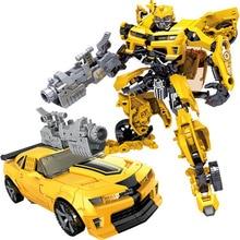 어린이 로봇 장난감 변환 애니메이션 시리즈 액션 그림 장난감 2 크기 로봇 자동차 ABS 플라스틱 모델 액션 그림 장난감 어린이위한