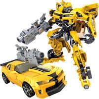 Enfants Robot jouet Transformation Anime série figurine jouet 2 taille Robot voiture ABS plastique modèle figurine Action jouet pour enfant