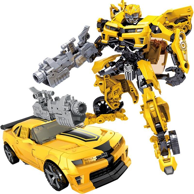 Niños Robot juguete transformación Anime serie figura de acción juguete 2 tamaño Robot coche plástico ABS modelo de acción figura de juguete para niños