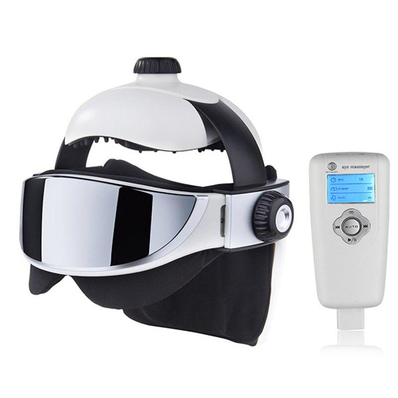 Head Massager Eye Massager 2 in 1 Relieve Stress Promote Sleep Music Massage Helmet Automatic Infrared