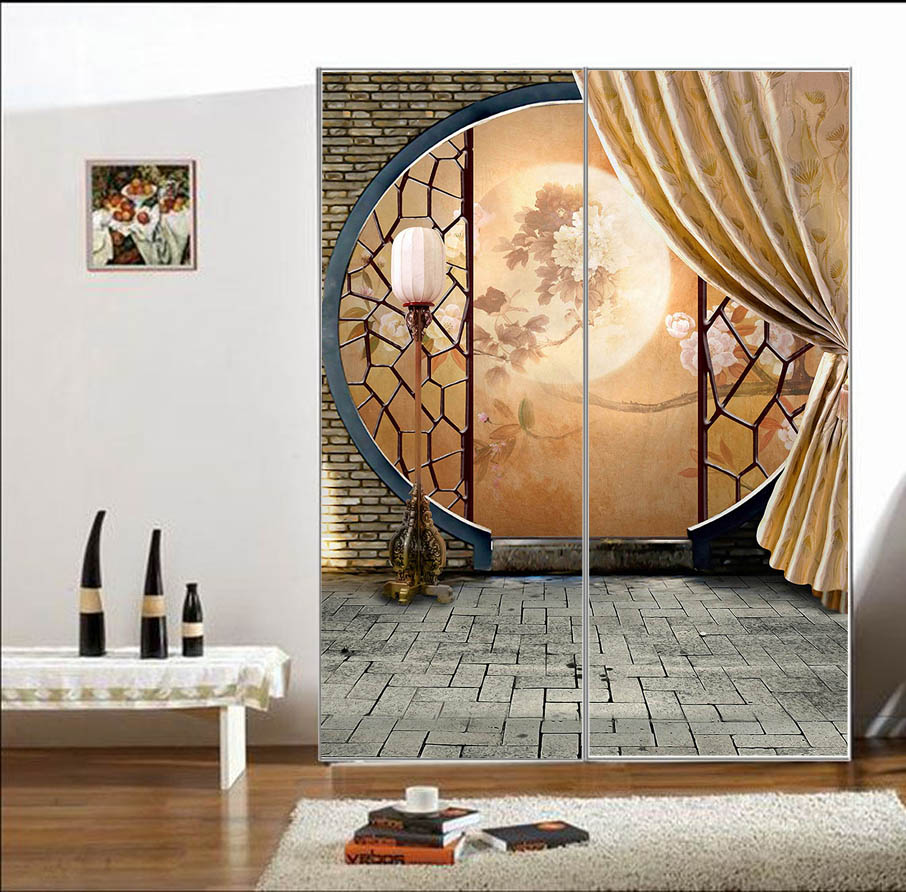 Free Shipping Glass Bathroom Sticker Wardrobe Sliding Doors Balcony