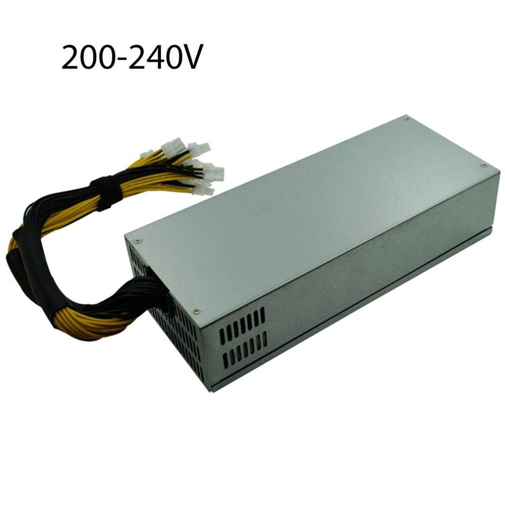 2000 Вт добыча Питание для одного пути Antminer S7/S9/L3 +/D3/A4 Портативный Bitcoin BTC горной машины Мощность ...