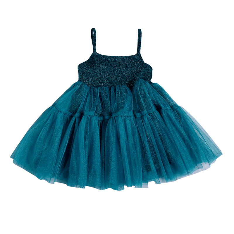 Baby Girls Sleeveless Mesh Tutu Dress Toddler Casual Pageant Strap Sundress US