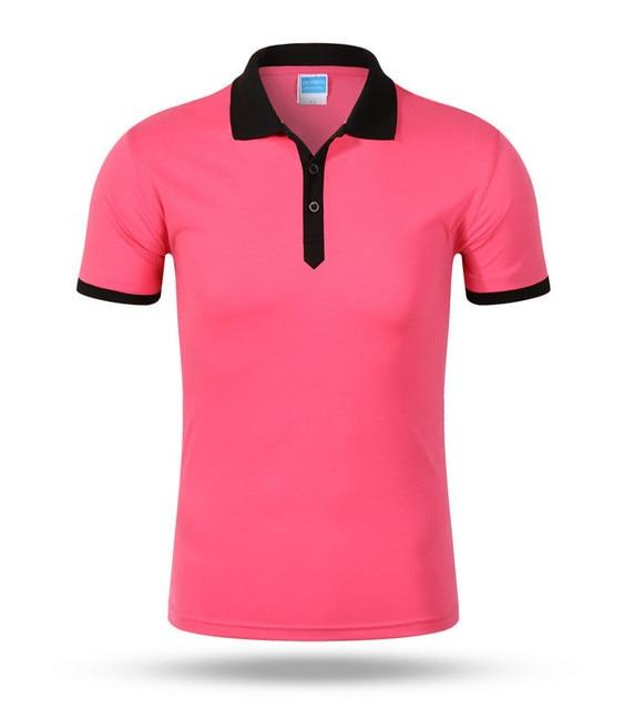 Good quality plus-size S-XXXL 2017 summer style new leisure women ladies and men Contrast color polo shirts AU0050