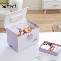 New Plastic 2 Layers Home Medicine Chest First Aid Kit Holder Storage Box Emergency Kits Security Safety Emergency Survival Box